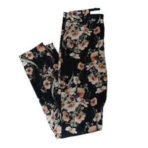Floral Patterned Women's Ankle Pants Size 2